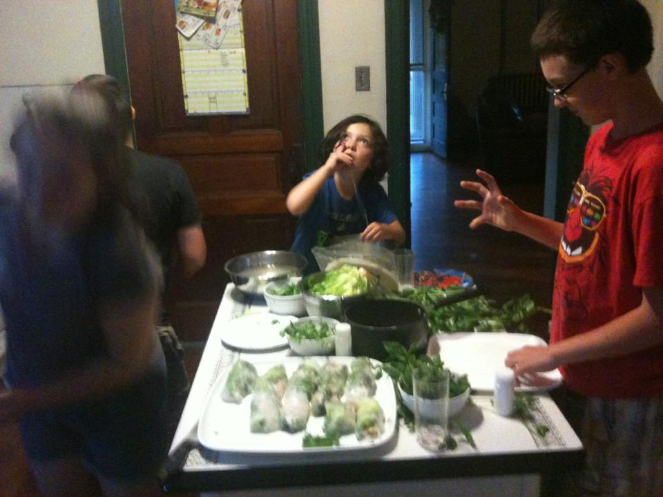 Vietnamese Spring Roll Assembly