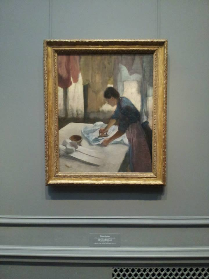 Degas - Woman Ironing (If I ever remodeled my laundry room, this would be a cool print to have in there. I love art portraying people doing things!)