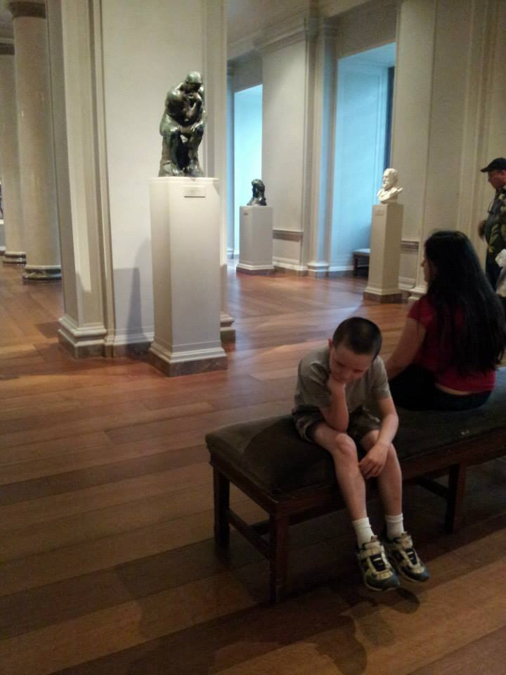 "Micah as ""The Thinker"""